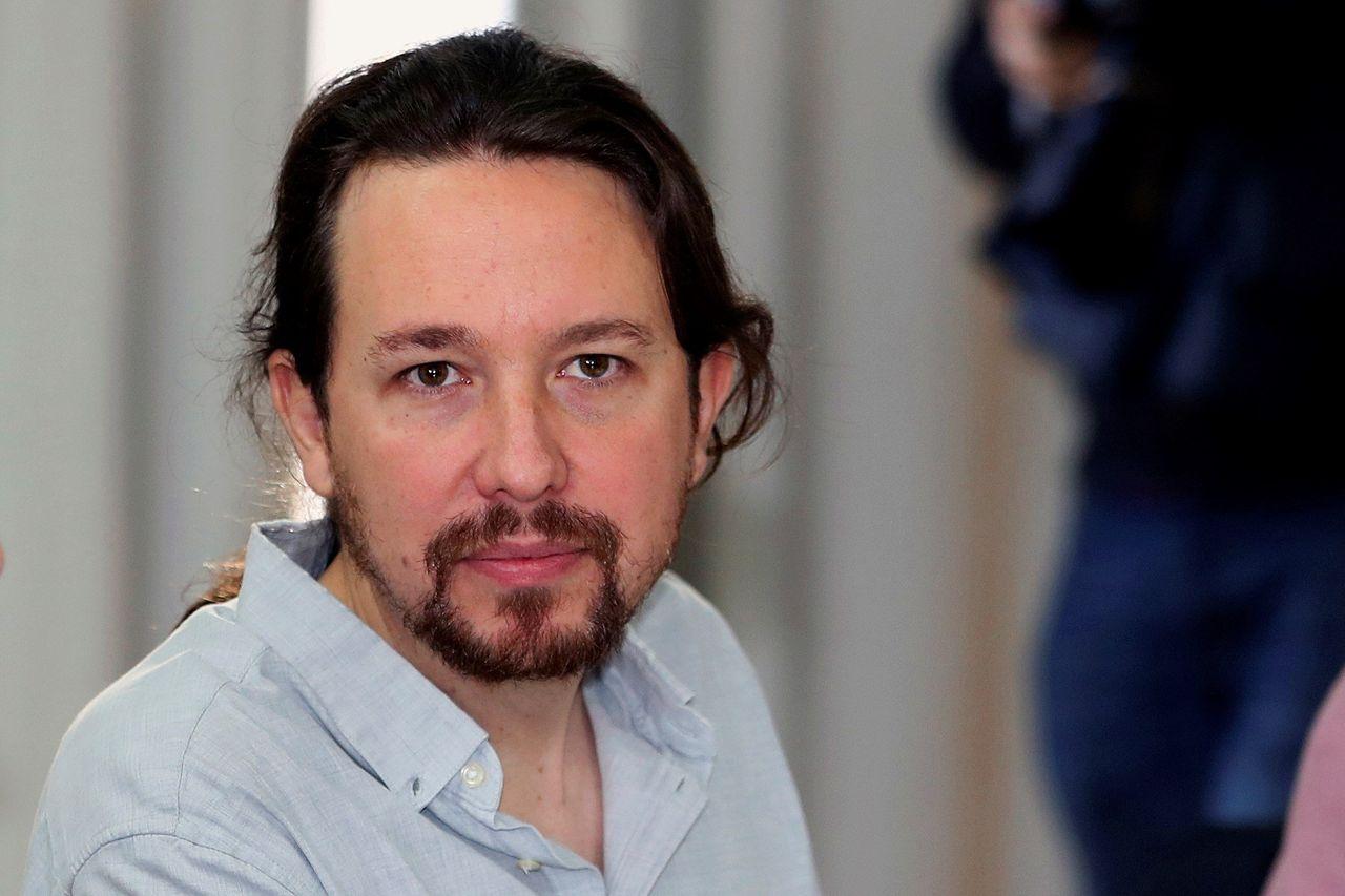 El secretario general de Podemos, Pablo Iglesias, durante el Consejo Ciudadano de la formación morada que se reunió este sábado para fijar objetivos de cara al curso político - FOTO: EFE
