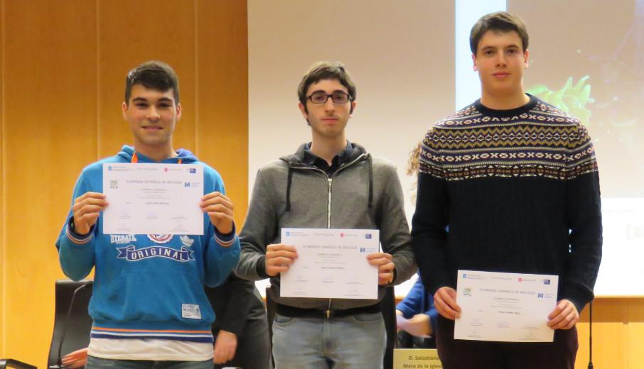 Javier Pérez Martínez, izquierda, Denis Arribas y Pedro Vieites - FOTO: COBG
