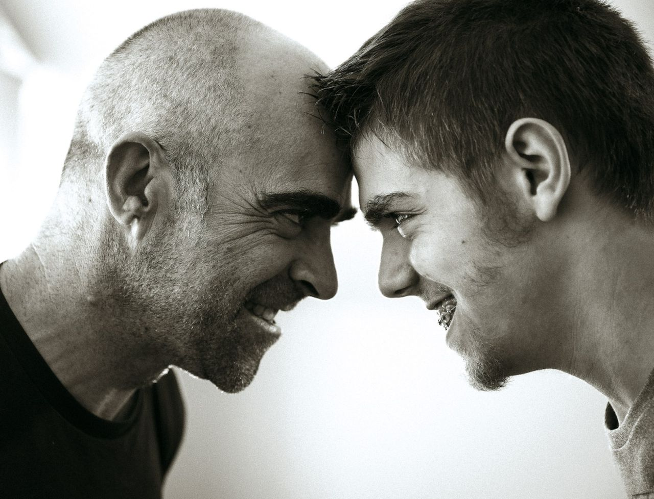 Andrés da Silva e Luis Tosar interactúan. Os dous rematan por entenderse moi ben - FOTO: La Diapo