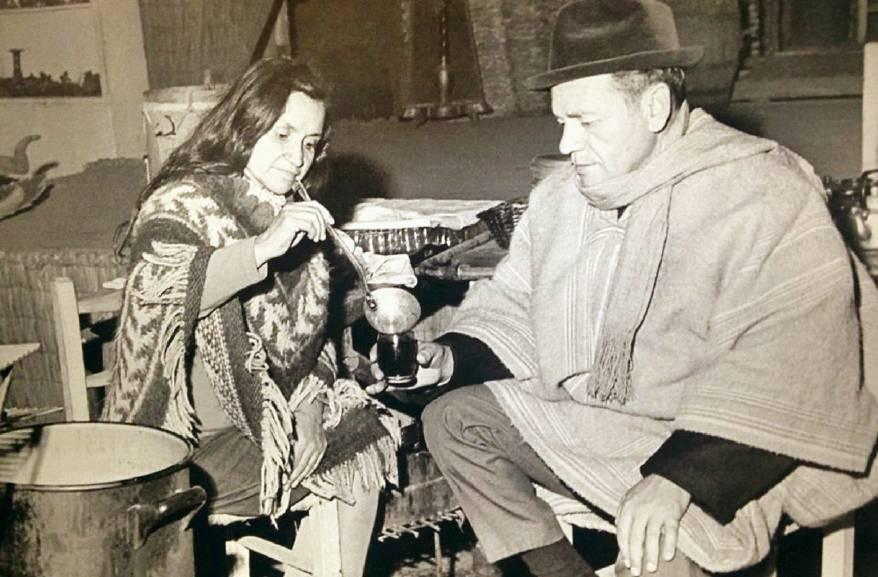 Violeta y Nicanor Parra - FOTO: Mario Ruiz/EFE/Archivo familiar de Nicanor Parra