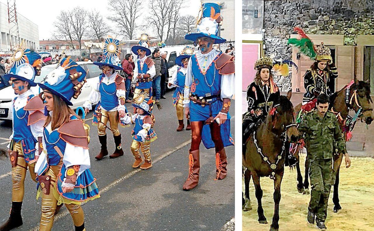 Viaxeiros no tempo, ganadores en Oroso, izquierda. Xenerais, dcha., en el Centro do Cabalo Galego de Sergude - FOTO: O.R.