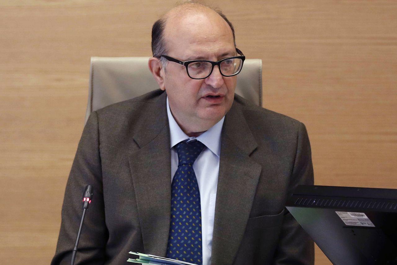 El presidente del Tribunal de Cuentas, Ramón Álvarez de Miranda, durante su comparecencia en la Comisión Mixta para la relación con este organismo en el Congreso - FOTO: EFE