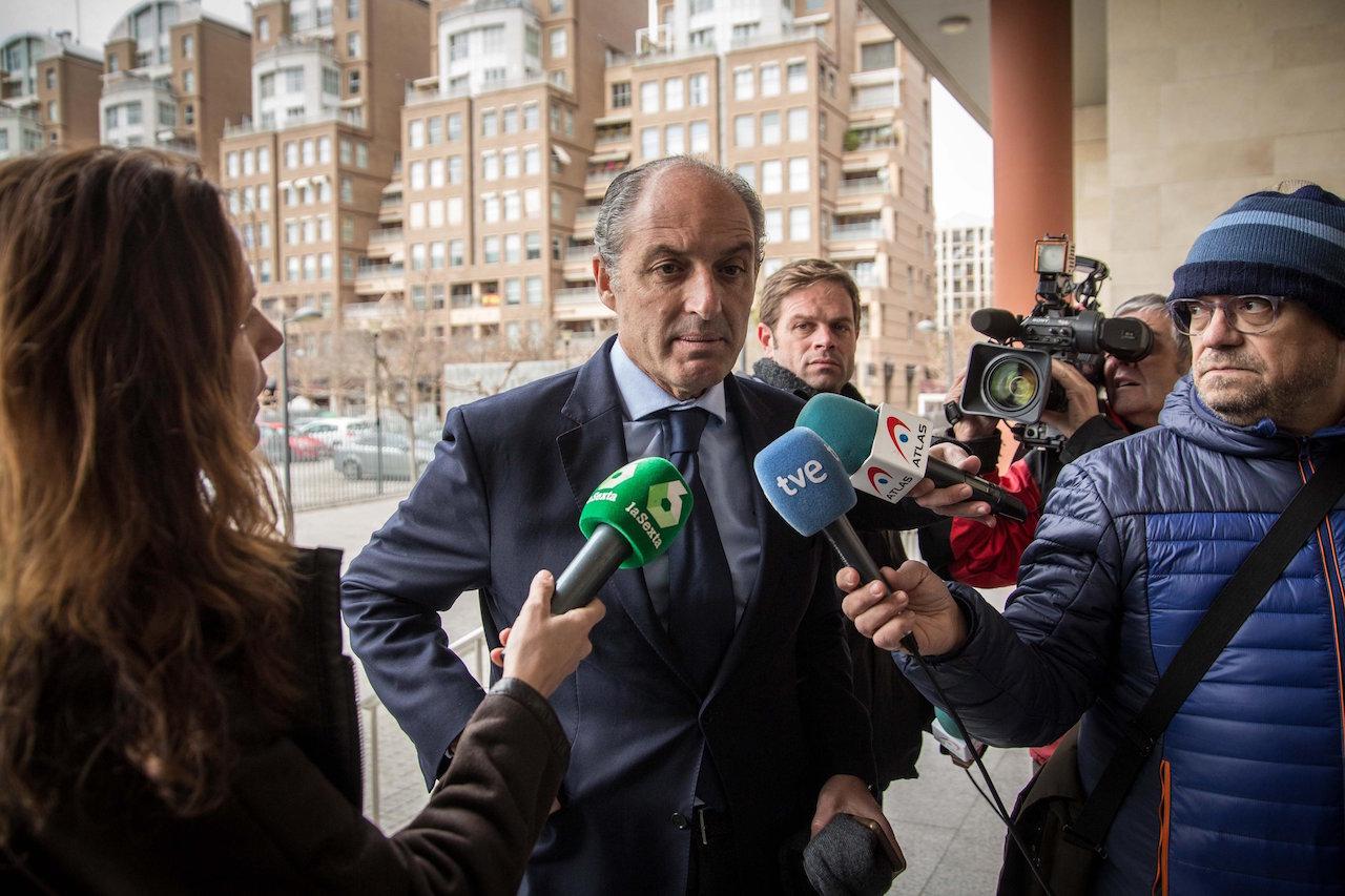 El expresidente de la Generalitat, Francisco Camps, días atrás a su llegada a la Ciudad de la Justicia  - FOTO: Efe