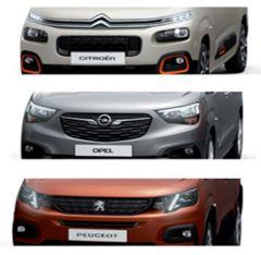 Imagen del frontal de los tres modelos del k9.  - FOTO: PSA