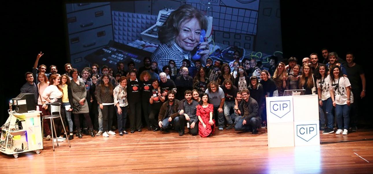 Acto de clausura da pasada edición do festival Carballo Interplay coa presencia de todos os premiados.  - FOTO: CIP