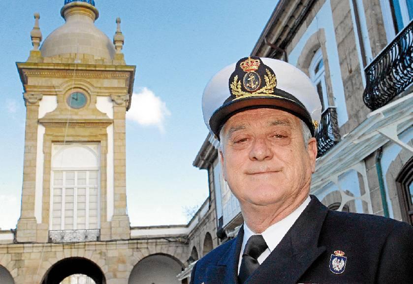 El almirante jefe del Arsenal Militar de Ferrol, vicealmirante Antonio Duelo Menor - FOTO: KIKO DELGADO