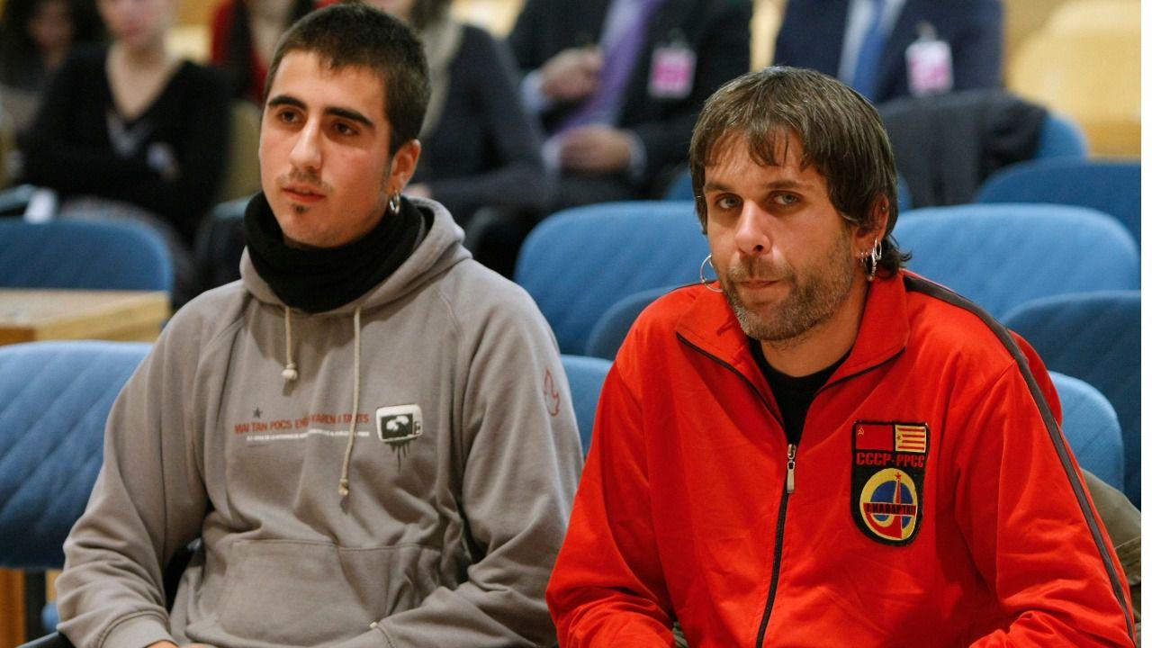 Los dos condenados, Enric Stern y Jaume Roura, durante el juicio - FOTO: EFE