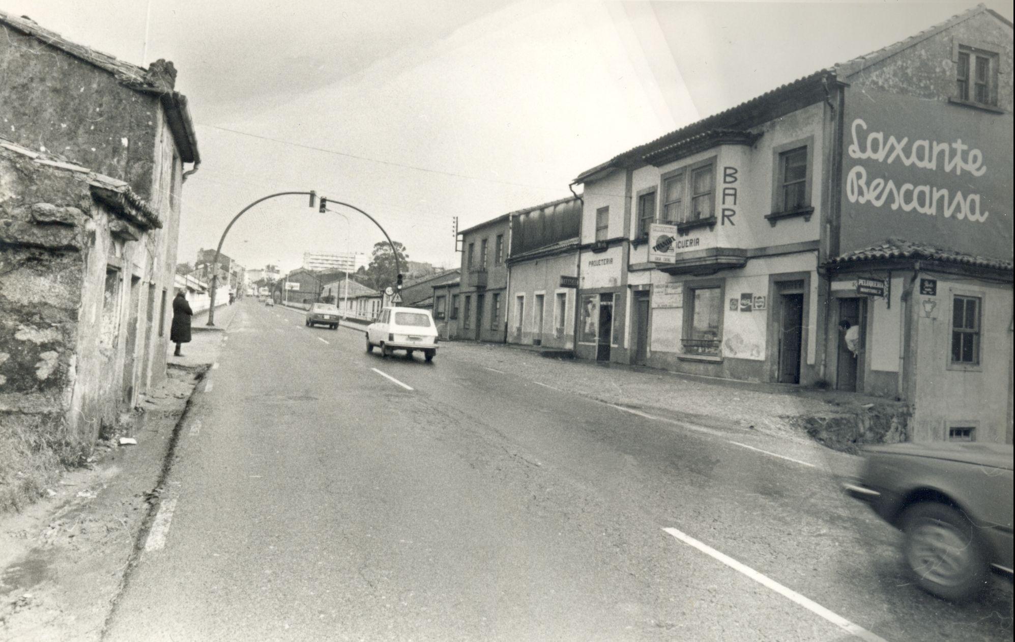 Las rúas Choupana y Volta do Castro soportaban la mayoría del tráfco que pasaba por la Choupana. - FOTO: MANOLO BLANCO