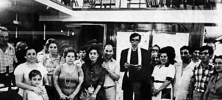 Inauguración, en el año 1979, de la tienda deportes Cibeira, ubicada desde su fundación en la rúa de Santo Domingo da la Calzada (Camelia). - FOTO: ECG