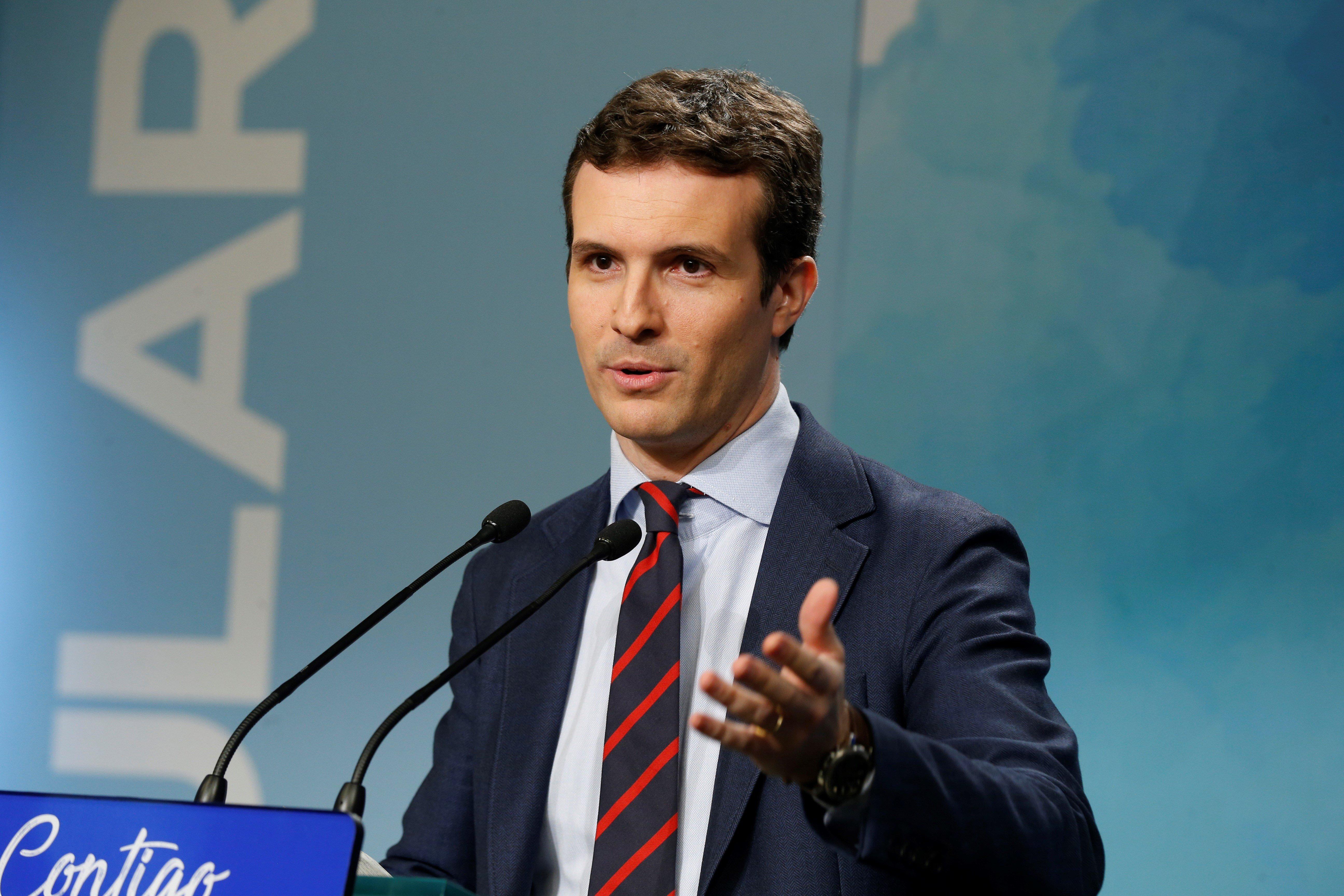 El vicesecretario de comunicación del PP, Pablo Casado - FOTO: EFE