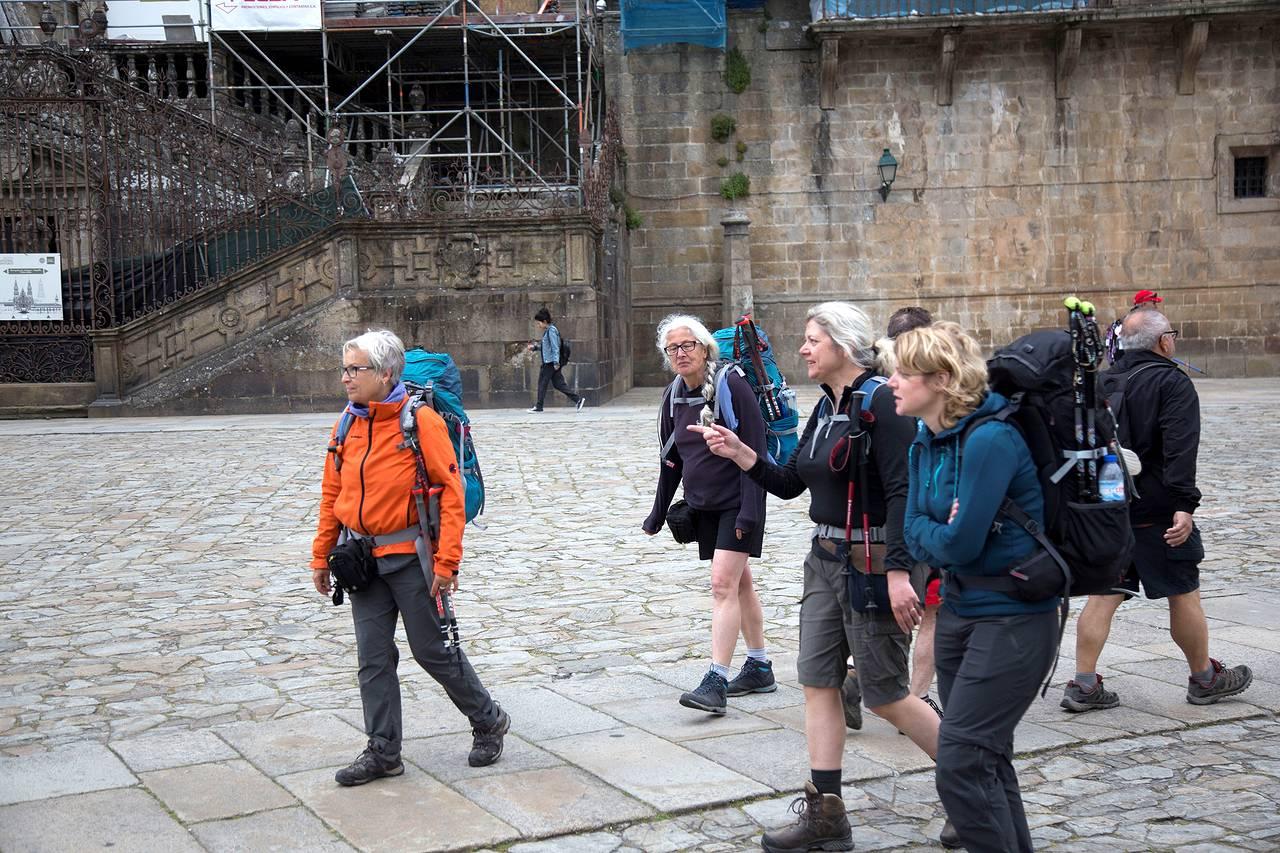 Peregrinas en Santiago de Compostela - FOTO: SANDRA ALMEIDA