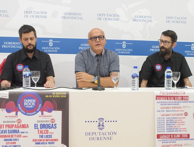 Baltar, no centro, con Álvarez e Varela onte.  - FOTO: DdeO