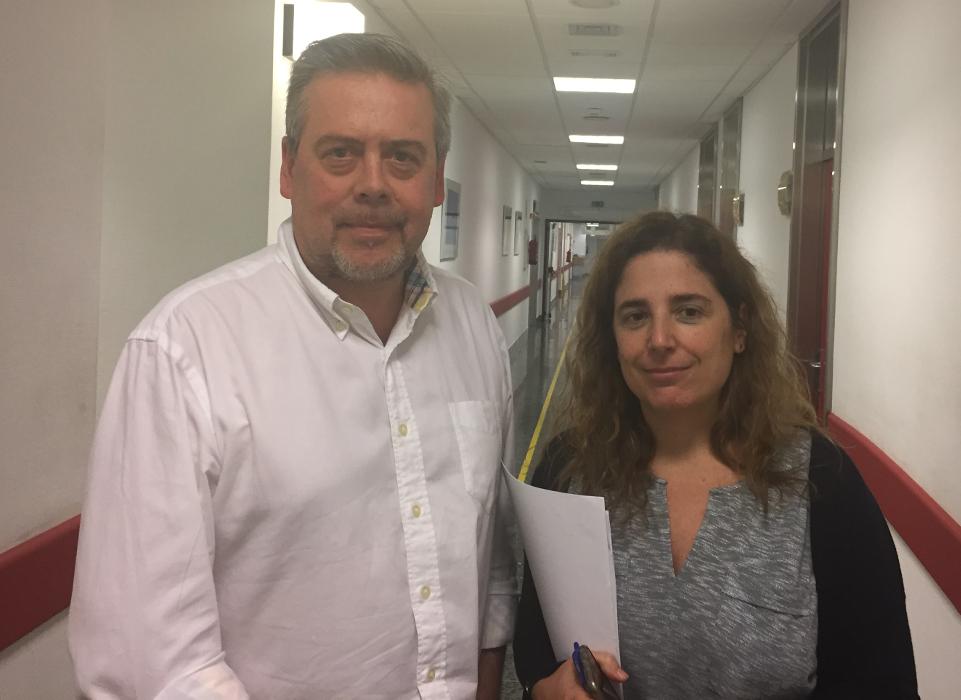 Los doctores Antonio Gómez-Caamaño y Ana Vega