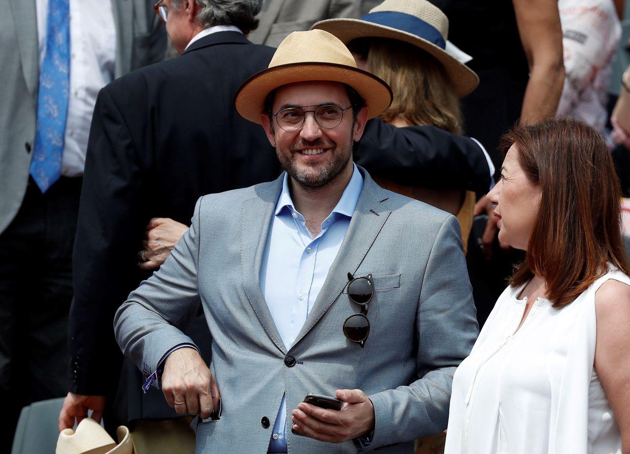El ministro de Cultura, Màxim Huerta, días atrás en el partido que disputó Rafa Nadal en Roland Garros  - FOTO: Efe