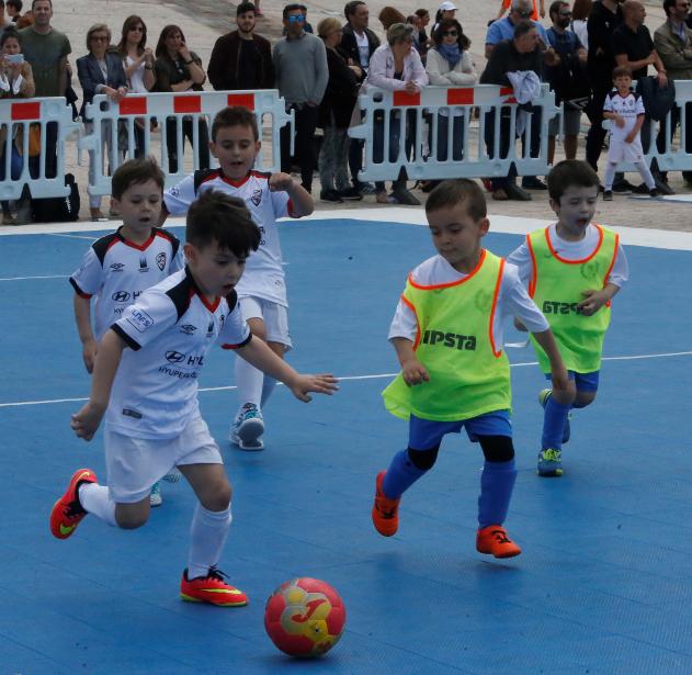 Uno de los partidos de la Cidade do Futsal.  - FOTO: ECG