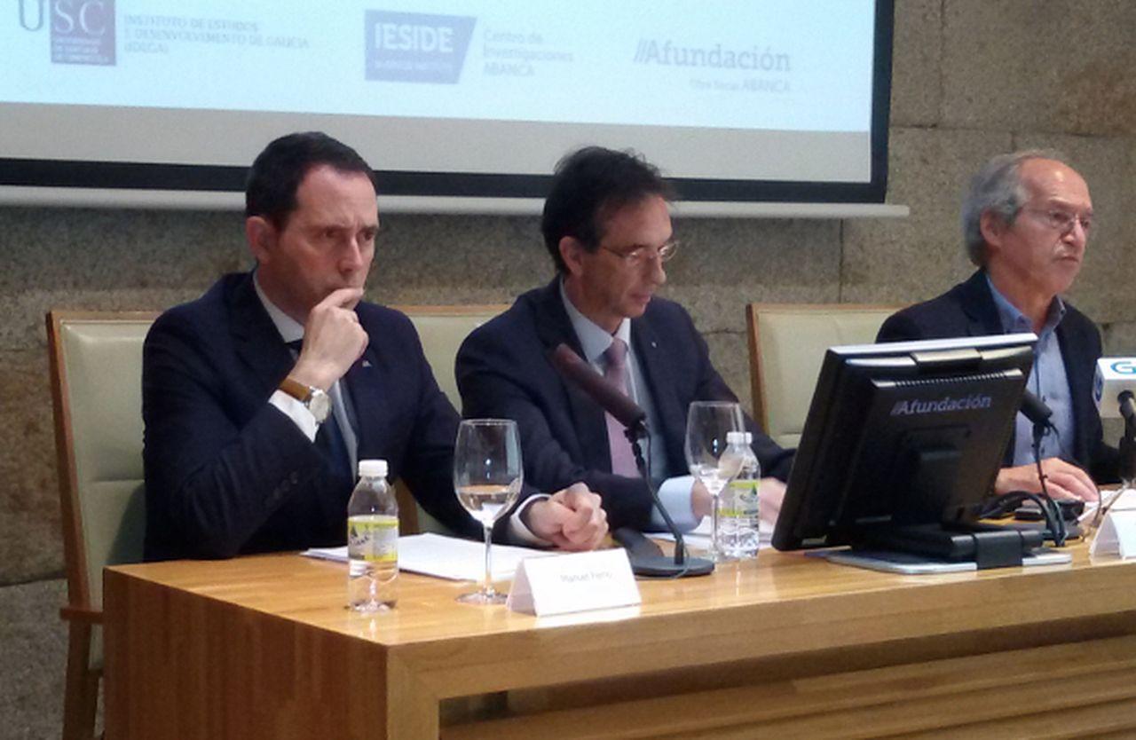 Manuel Ferro, izquierda, Pedro Otero y Alberto Meixide