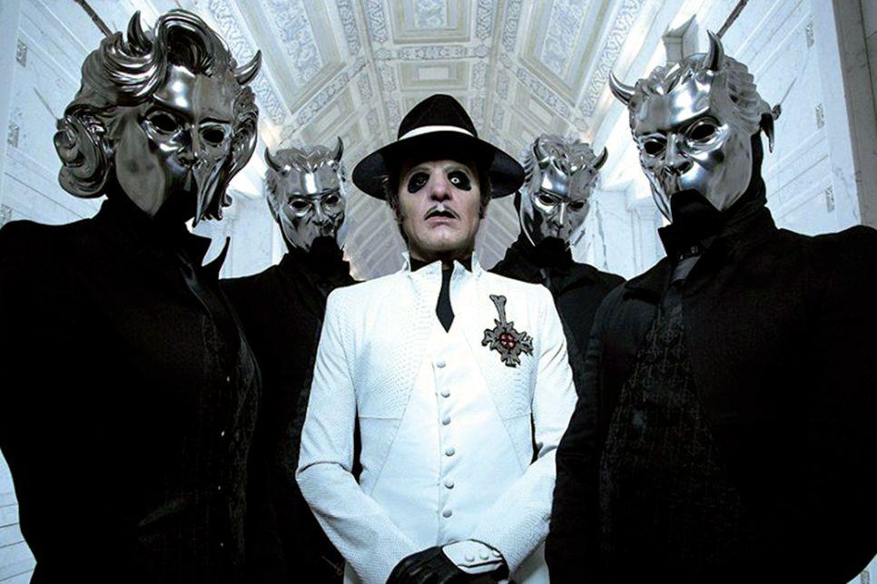 El 23 de mayo, el New Musical Express publicaba esta imagen (siempre cambiando...) de Ghost - FOTO: Mikael Eriksson / Press