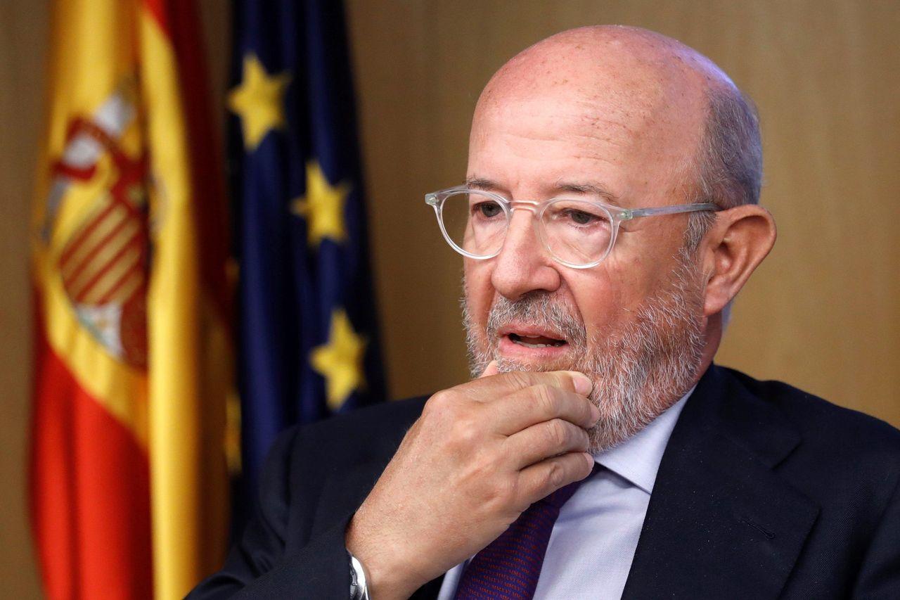 Emilio Saracho durante su comparecencia en la Comisión de Investifación de la crisis financiera - FOTO: Efe