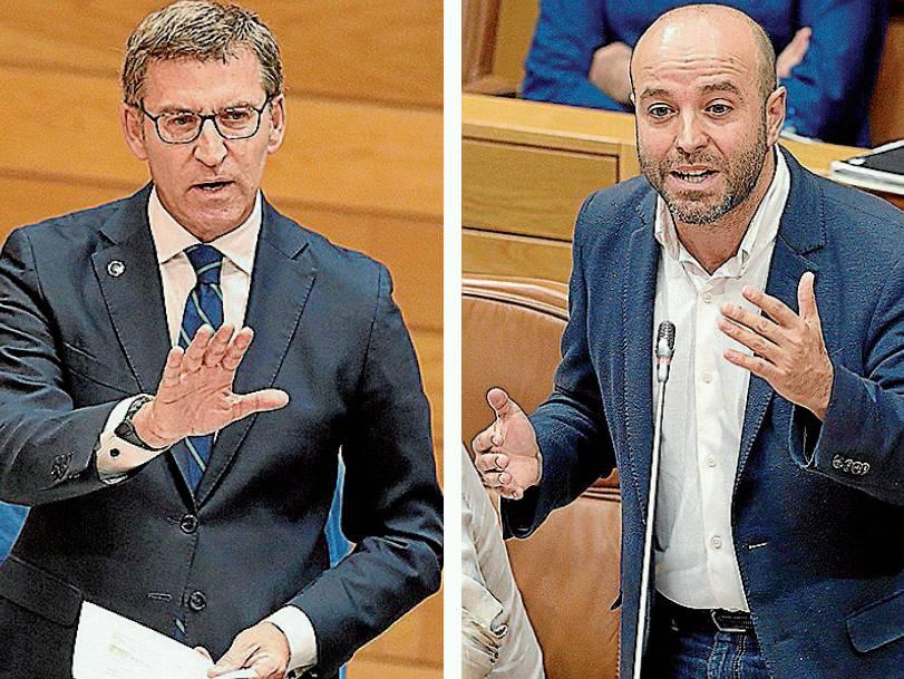 TENSO DEBATE / Feijóo y Villares protagonizaron ayer un duro cruce de acusaciones - FOTO: EFE