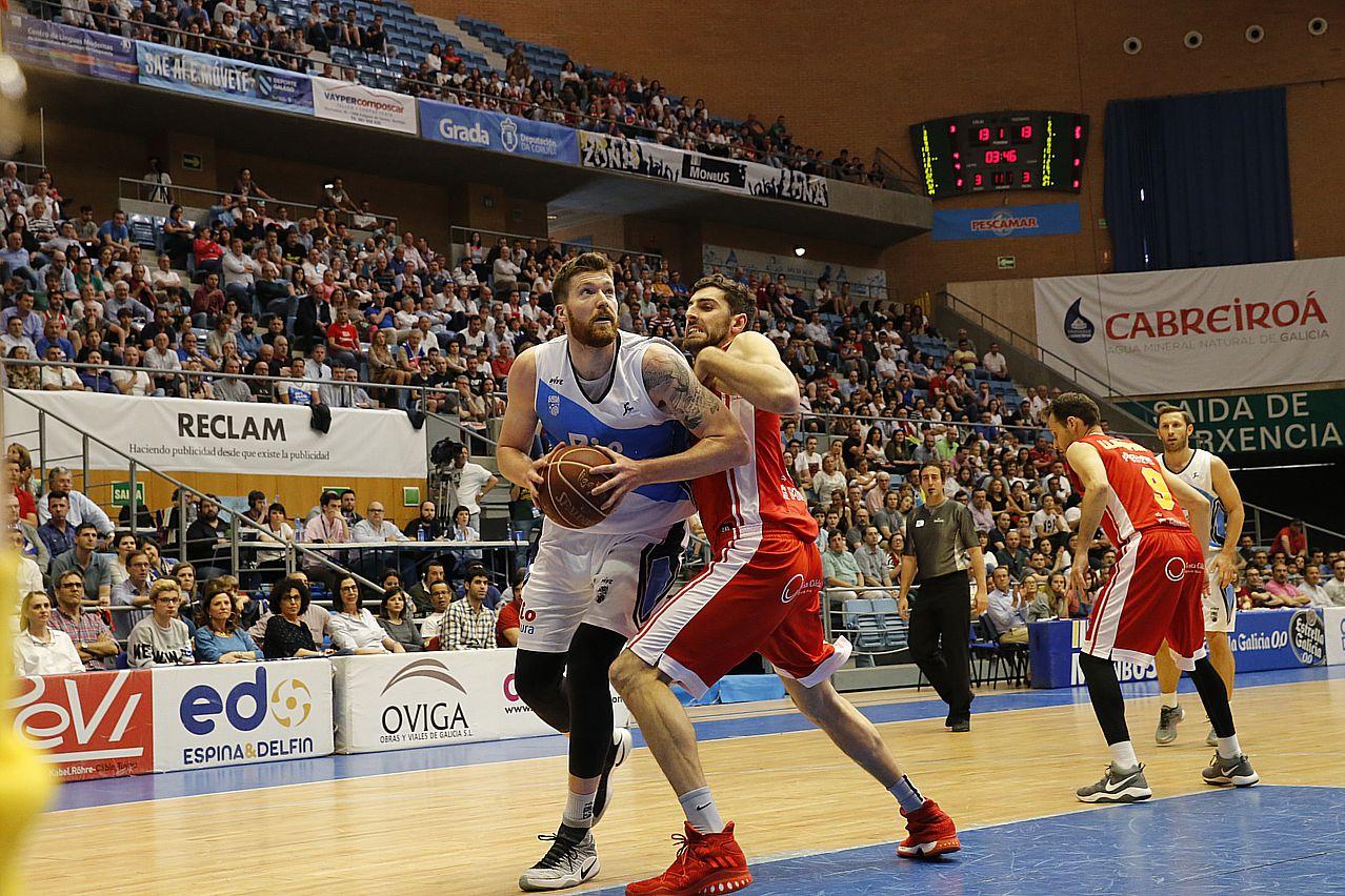 Partido entre Obradoiro y UCAM Murcia