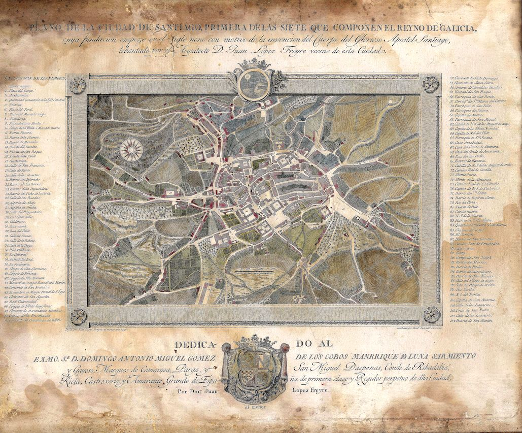 A historia de Santiago en mapas
