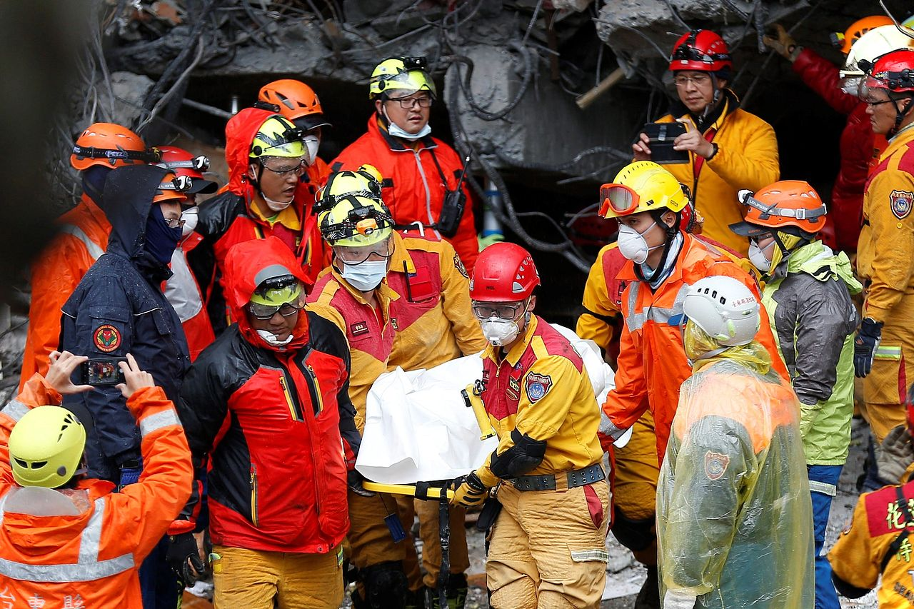 Imágenes del terremoto registrado en Taiwán