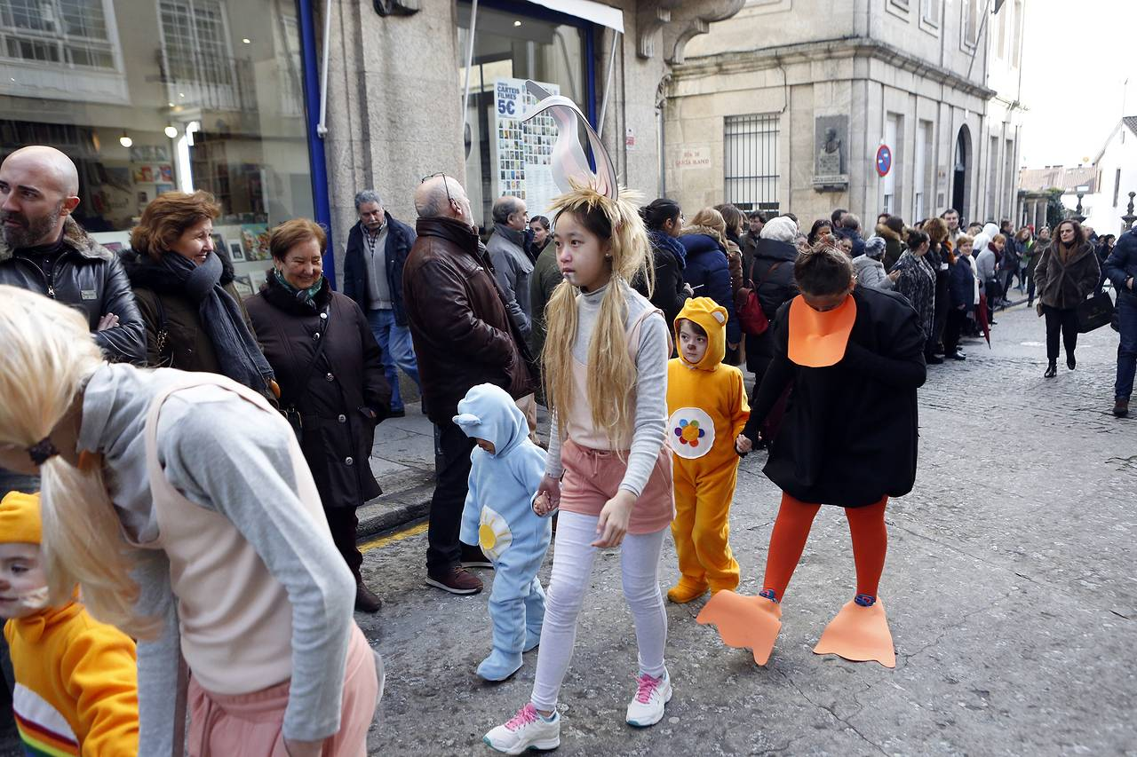Entroido dos escolares en Compostela