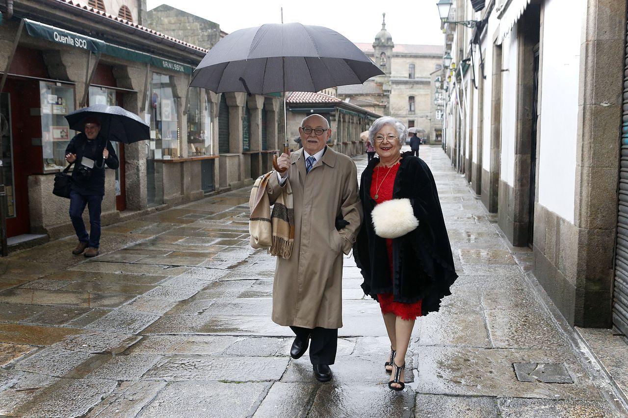 Luis Rial y su mujer, Doroti Sierra, celebran sus bodas de oro por todo lo alto