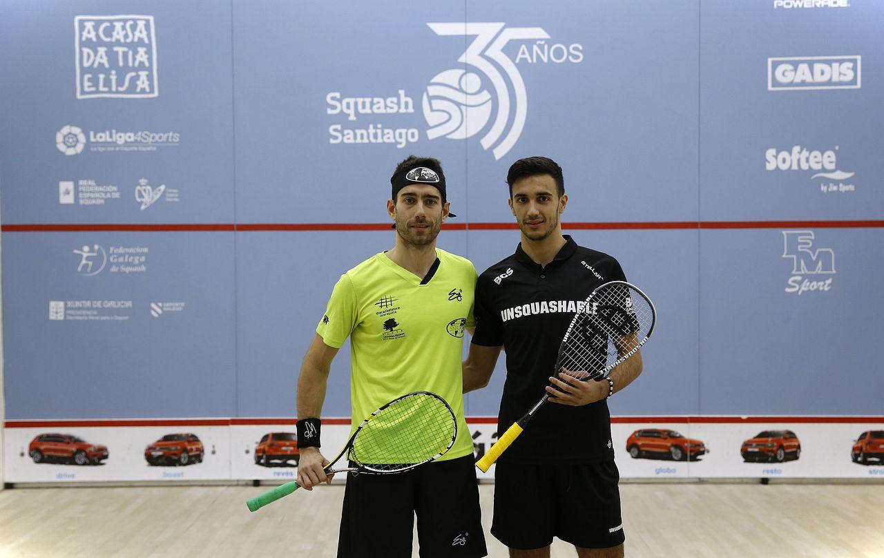 Final del Campeonato de España de Squash celebrado en el Squash Milladoiro