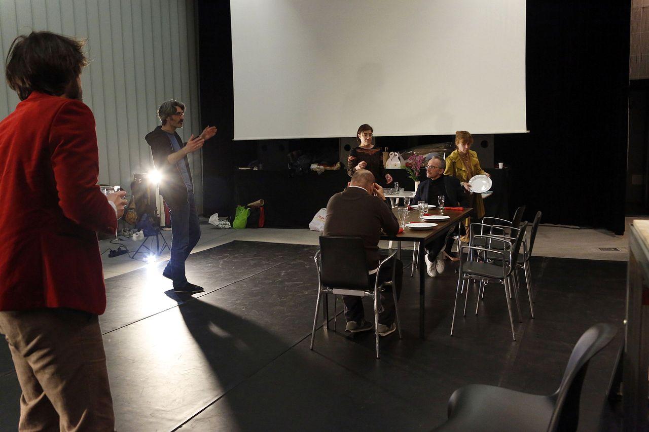 Ensayo de la comedia dramática 'A Leituga'