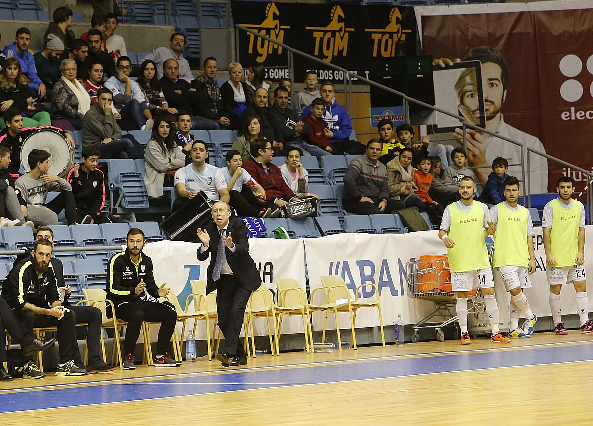 Partido entre Santiago Futsal y Santa Coloma
