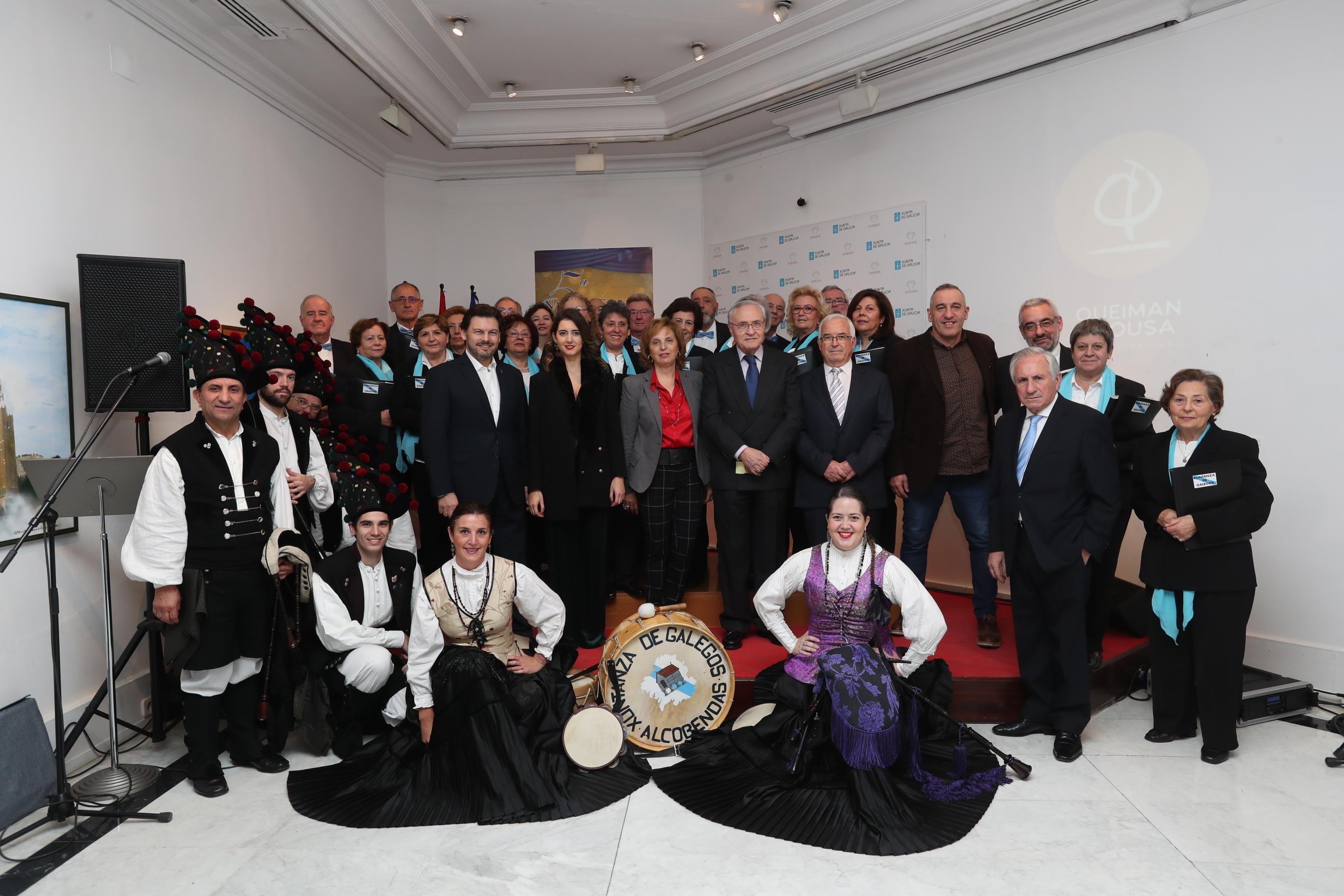 El club deperiodistas gallegos en madrid celebró la fiesta de Navidad